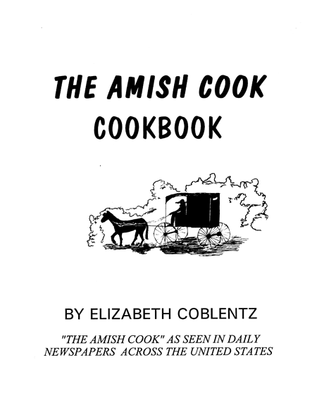 The Amish Cook Cook Book