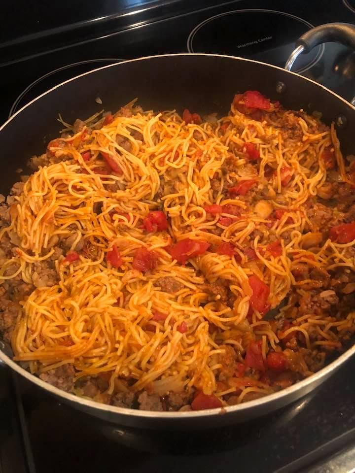Amish Skillet Spaghetti
