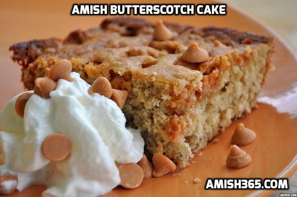 Homemade Amish Butterscotch Cake
