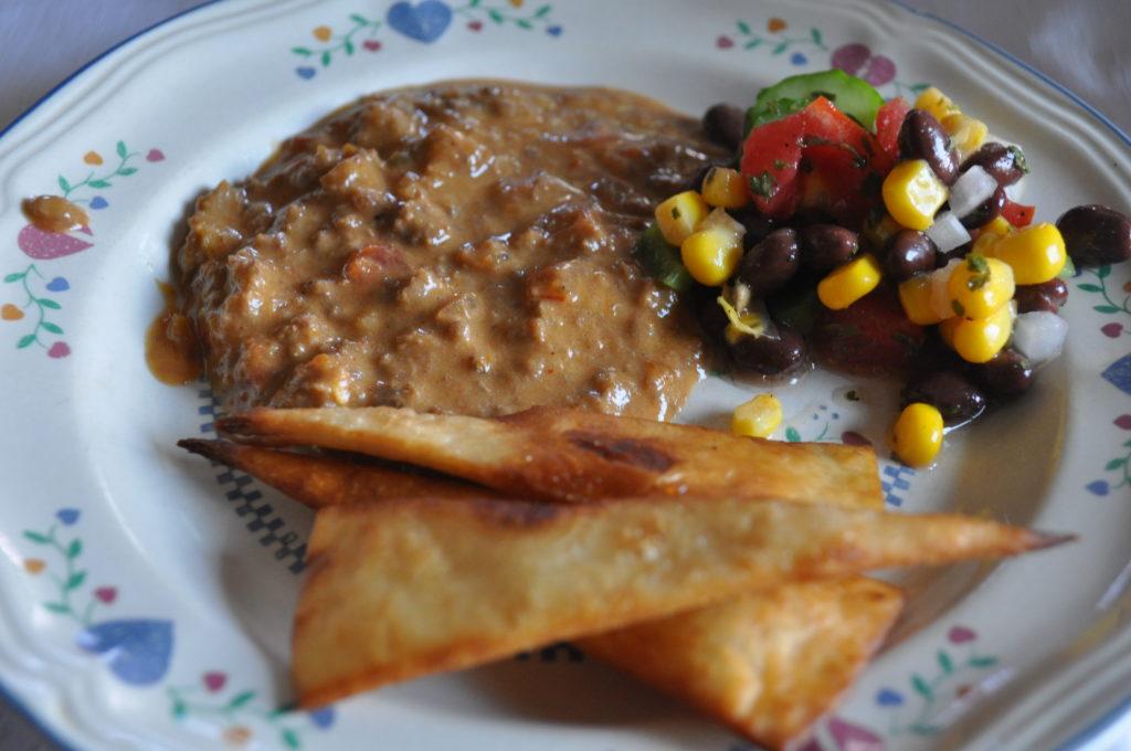 Beanless bean dip