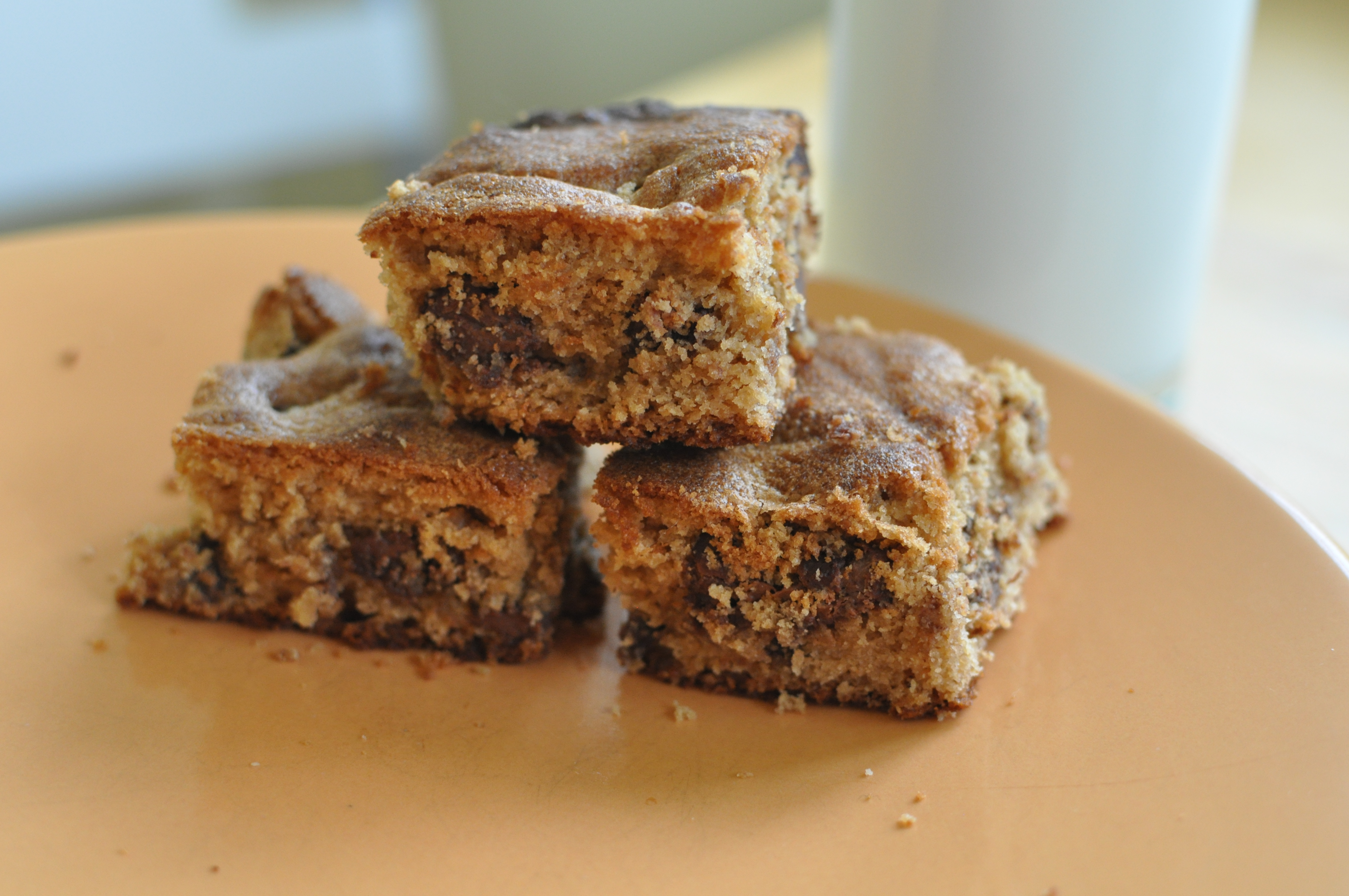 Peanut Butter Chocolate Chip Maple Cake Bars | Amish 365: Amish ...