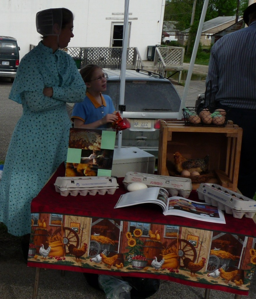 Rosanna and her younger sister, Joanna, at their Farmers Market booth back in 2013