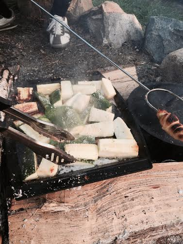 Okay, I don't have a photo of zucchini relish. These are just some zucchini we grilled over an open fire earlier this summer..you'll have to make the relish to picture it!:)