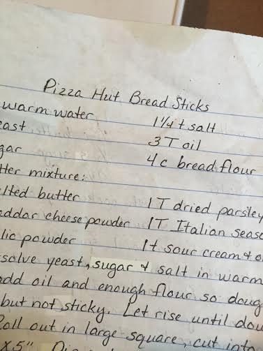 Homemade Pizza Bread Stick Recipe