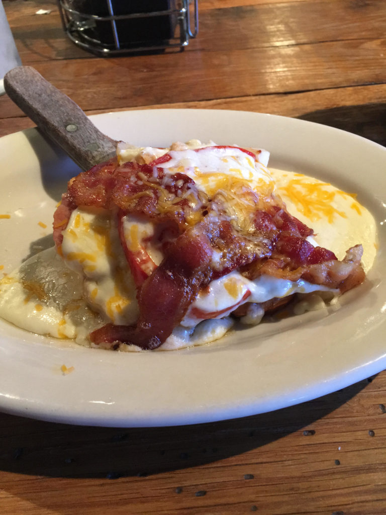 My Dad's meal of Kentucky Hot Brown.