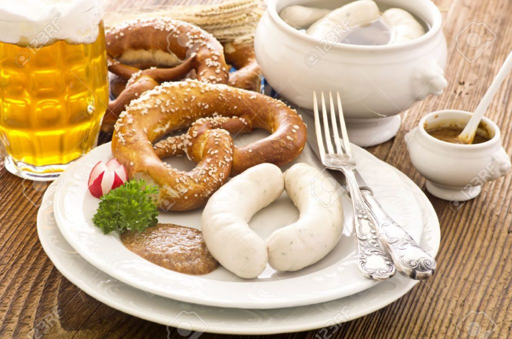 Rosanna tries German fare: white veal sausage and pretzels to name a few!