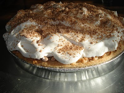 Yoder's Peanut Butter Pie creams the competition.  If I had a photo of the Yoder's filling vs. the Frisch's, you'd find a darker, peanuttier filling. Yum.