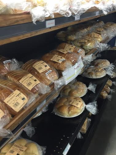 Fresh baked breads and rolls of all kinds fill the shop.