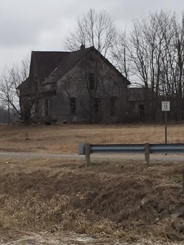 A creepy old farmhouse.....