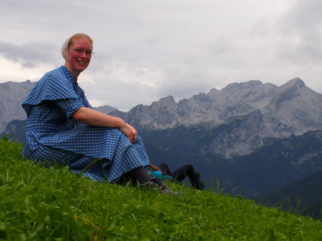 On a cheerier note, here is Rosanna enjoying some time in the Alps last summer.