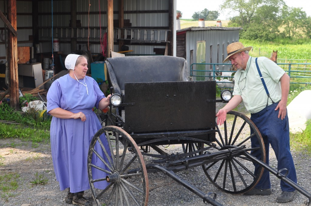 Daisy and Curtis Duff live in Oakland, Maryland's Amish settlement.  Daisy was born and raised Amish, her husband Curtis is a convert