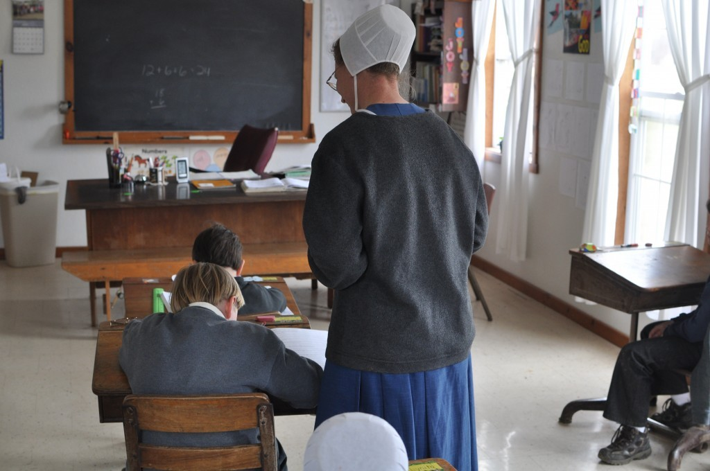 Inside the Amish school in Flat Rock, Illinois