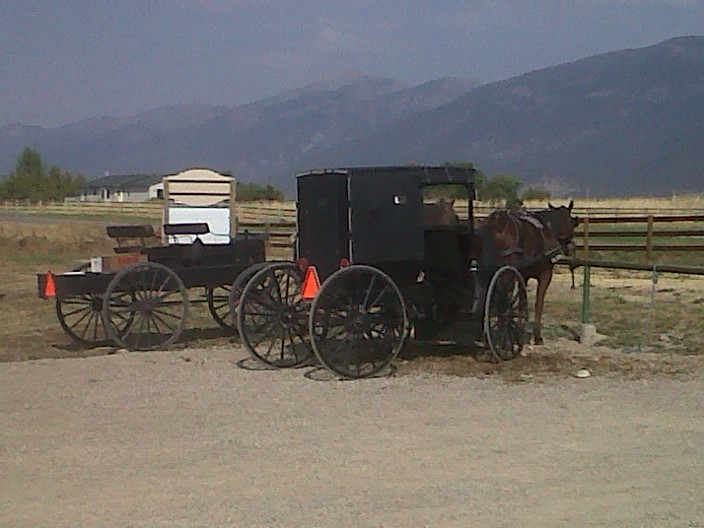 The Amish settlement in St Ignatius is located on Native American reservation