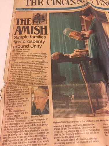 This article appeared on the front page of The Cincinnati Enquirer on April 5, 1987, it was a superb piece!