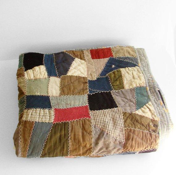 A crazy quilt Mennonite quilt!