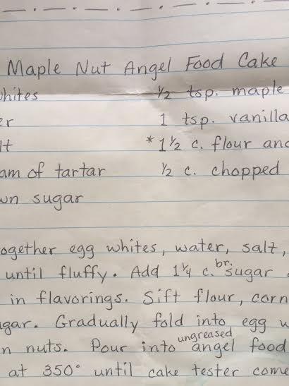 Mrs. Stutzman's Easy Maple Nut Angel Food Cake
