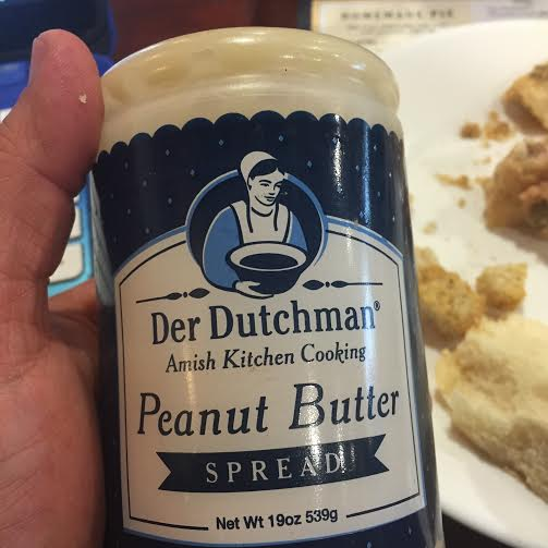 At Der Dutchman's restaurants you can squirt the church spread on your bread AND buy a bottle to take home!