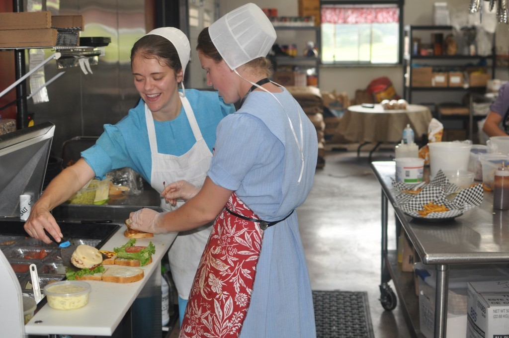 Food is prepared fresh and with a smile at Heidi's.