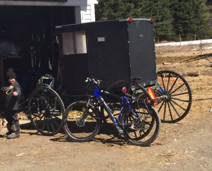 Bikes and buggies in Smyrna, Maine