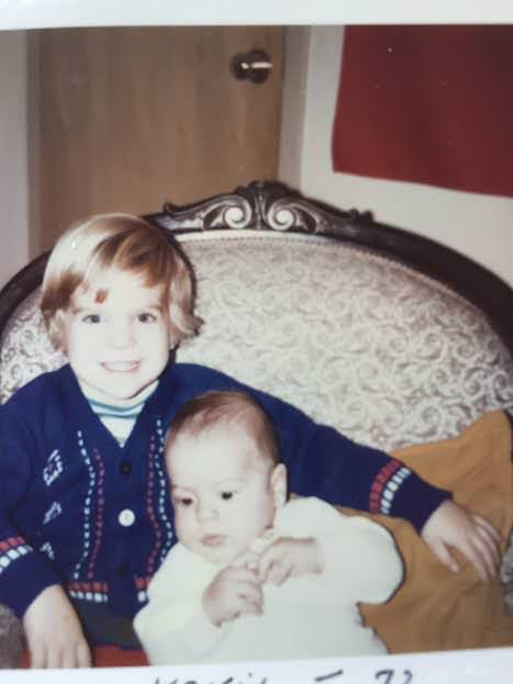 My big brother Geoff and I, circ. 1972  (my Mom thinks Baby Bea looks like that photo of me)