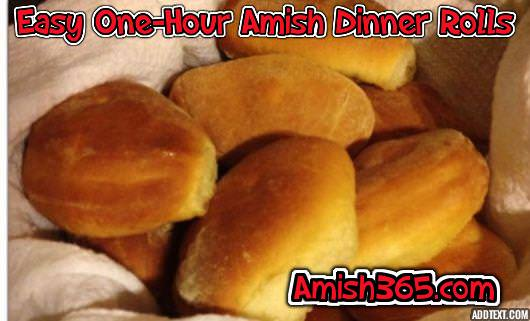 Easy One Hour Amish Dinner Rolls, these earn rave reviews from almost anyone who makes them!