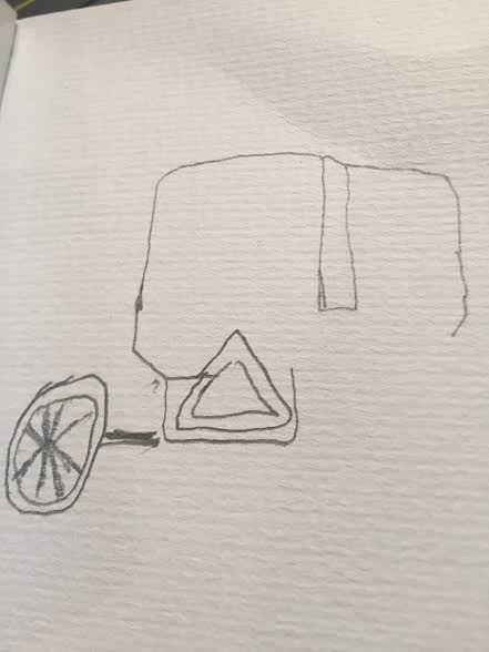 My half-finished, one-handed buggy sketch