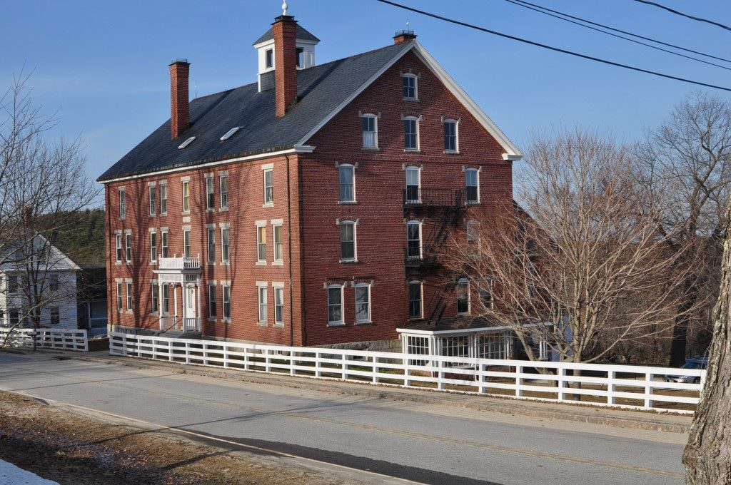 The massive Shaker dwelling house, built in the 1800s, is where the last Shakers reside...