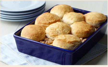 Amish365 Classic: Beef and Biscuit Casserole