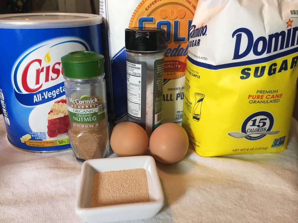 Ingredients for fasnachts