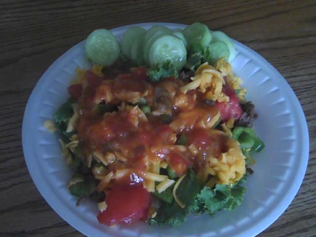 Amish Haystack Salad Vegetarian