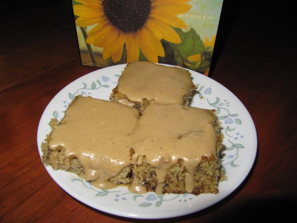 The Amish Cook:  Homemade Banana Bars with Caramel Frosting