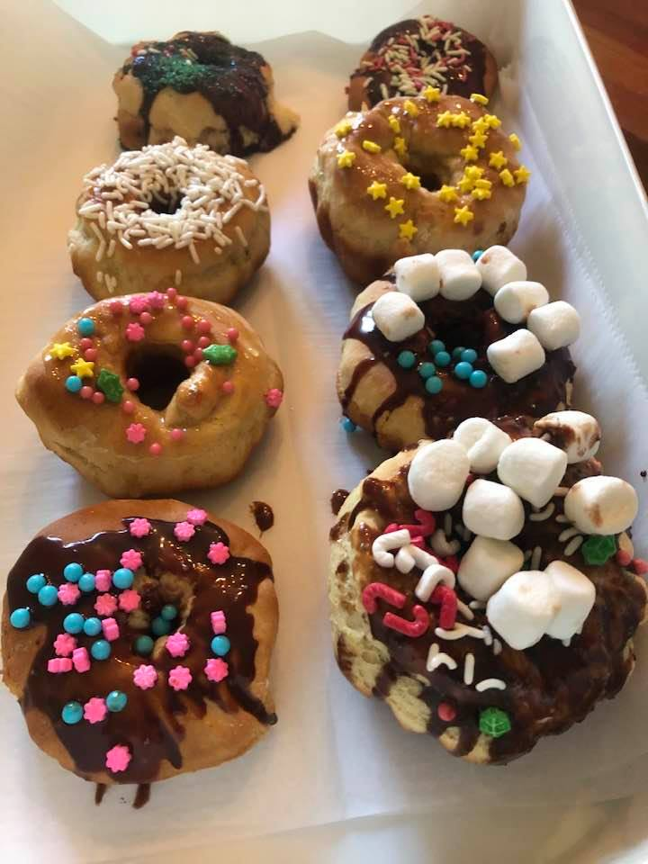 Amish Baked Donuts with frosting