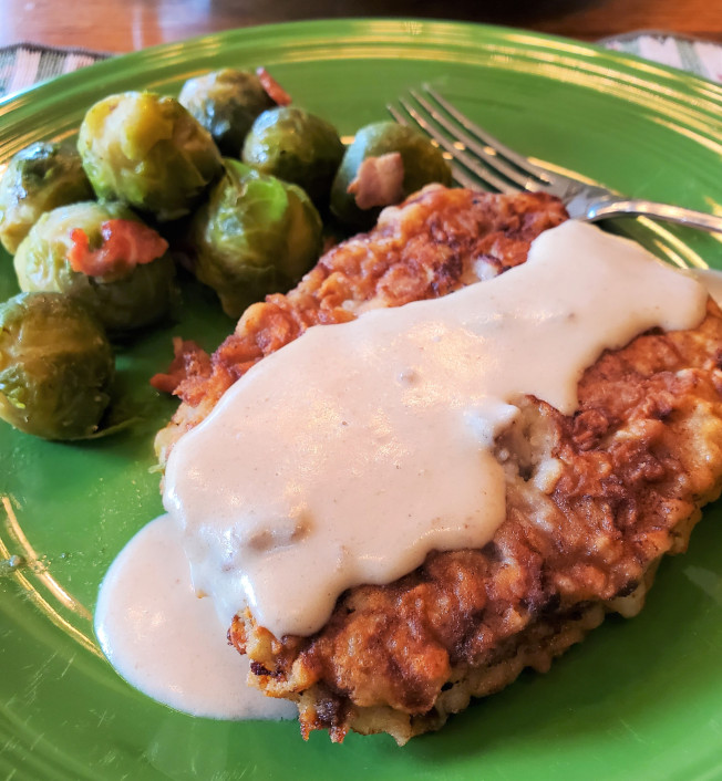 Weekly Blogroll:   Chicken Fried Steak With Gravy, Day's End, Barn-Raising, and More!