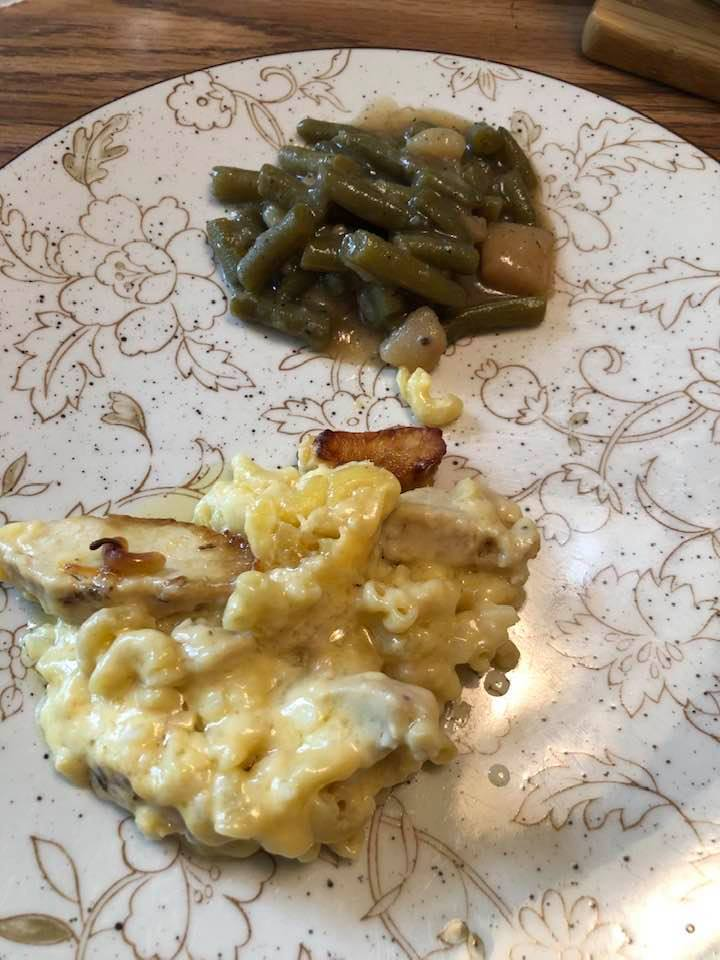 The Bishop's Overnight Chicken and Macaroni Casserole