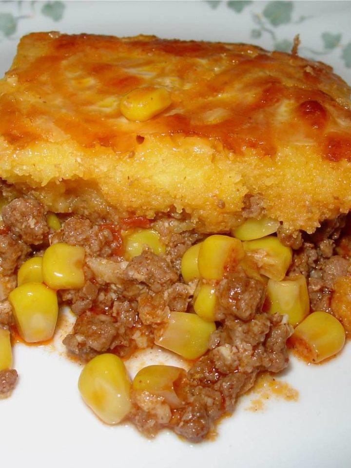 Amish Style Hamburger Corn Casserole