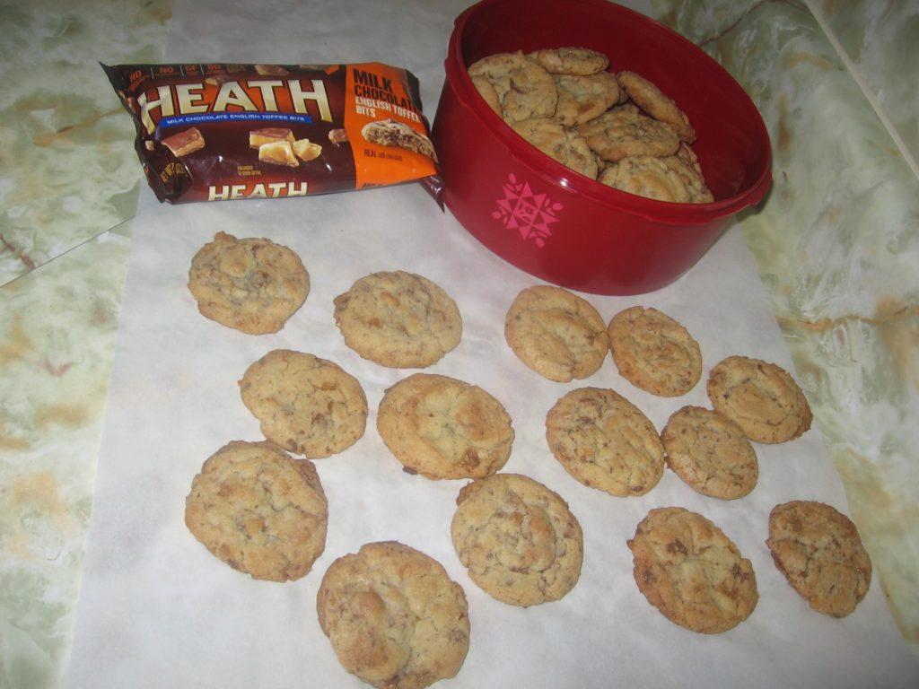 Heath Candy Bar Cookies