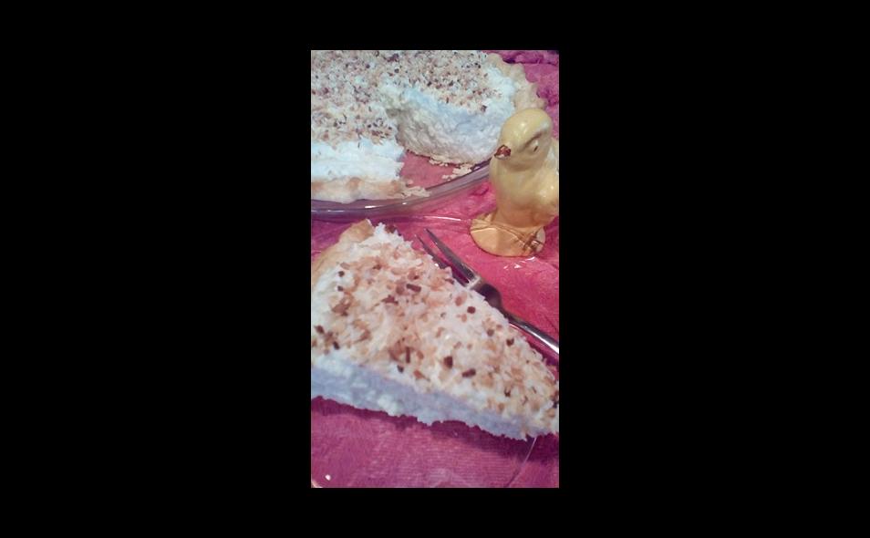 Slice of Amish White Christmas Pie